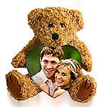 Fotoherz mit Teddy