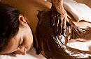 Enstpannung pur bei einer Schokoladenmassage